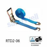 Ratchet tie down GS quaity Ratchet tie down Polyester lashing cargo strap with double J hooks