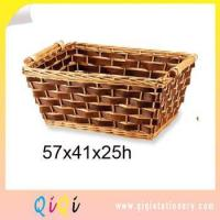 Buy cheap Straw and Bark Weave Natural Wicker Oval Baskets from wholesalers