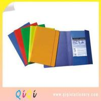 Buy cheap elastic band printed paper three flap file folder from wholesalers