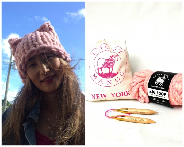 Buy cheap Big Loop Kitty Hat DIY Kit Cotton Candy - Support Women's March on Washington from wholesalers