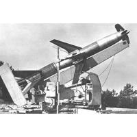 German Rheinmetall 'Rheintochter' R-2 anti-aircraft missiles and launcher