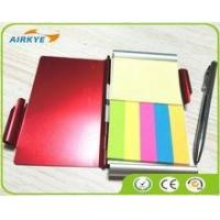 Buy cheap New aluminum double-side notebook with pen / HOT Sale Aluminum pocket notebook from wholesalers