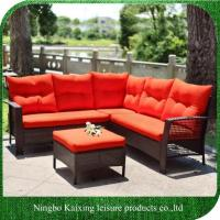 Buy cheap 4 Pieces Apartment Furniture Sofa Set, Luxury, Large Size, Red Cushion from wholesalers