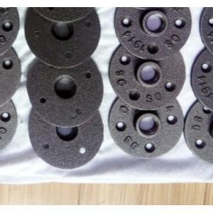 Customized black floor flange malleable iron threaded pipe for 1 black floor flange