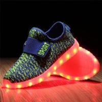 Buy cheap Dropshipping SLEVEL kid boy girl upgraded kids LED shoes fly fabric colorful kids luminous shoes from wholesalers
