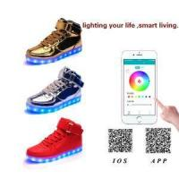 Buy cheap Hot Sale USB Charging LED Shoes With App Control High Upper Board Shoes For Man & Woman from wholesalers