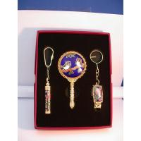 Buy cheap Gift set Cloisonne rectangle nail clipper & perfume bottle & mirror from wholesalers