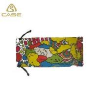 Buy cheap Black microfiber sunglasses bag with silk screen printing D08 from wholesalers