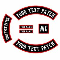 Buy cheap Custom Embroidered Rocker Font Back Fashion Patch from wholesalers