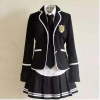 Buy cheap Black Blazer Jacket Winter Design High School Uniforms For Girls from wholesalers