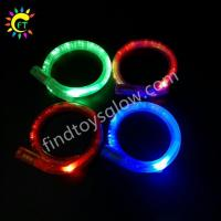 Buy cheap Multi Color LED Glowing Fiber Optic Tube Bangle Watch Light Up Wrap Bracelet for Party Decoration from wholesalers