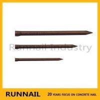 Buy cheap Copper Plated Concrete Nails With Flat Head Or Lost Head, Copper Surface, Strong Rust Proof, Small B from wholesalers