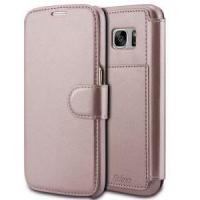 China Rose Gold Leather Mobile Phone Wallet Case for Samsung Galaxy S7 on sale