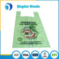 Buy cheap Customized Printed High Quality Shopping T-Shirt Carry Plastic Grocery Bags Wholesale from wholesalers