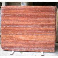 Buy cheap Red Travertine Marble Floor And Wall Tile Slab from wholesalers