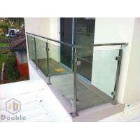 Buy cheap Stainless Steel Balcony Glass Balustrade, Glass Fence, Semi Post Stair Glass Railing from wholesalers