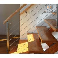 Buy cheap Stainless Steel Cable Staircase Railing Design with Top PVC Handrail from wholesalers