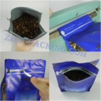 Buy cheap flat block bottom Pouch coffee bean packing Aluminum Foil Coffee Bags from wholesalers