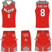 Buy cheap Latest Basketball Jersey Design Blank Sublimation Basketball Uniform from wholesalers