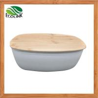 Buy cheap Bamboo Fiber Bread Bin With Bamboo Board Lid from wholesalers