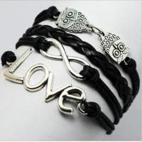 Buy cheap infinity bracelet white gold Black Infinity Wrap Bracelet from wholesalers