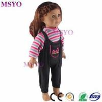 Buy cheap Msyo brand wholesale custom Pink stripe coat cute 18 inch doll cotton clothes from wholesalers