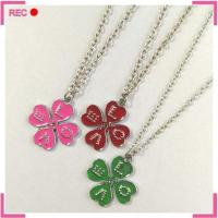 Buy cheap New model necklace with clover pendant, engraved love necklace for girls from wholesalers