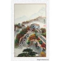 Buy cheap Chinese Paintings Great Wall of China Fall Colors Brush Painting from wholesalers