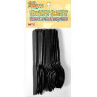 Buy cheap 18 PCS PLASTIC CUTLERY SET - BLACK from Wholesalers