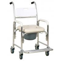 Buy cheap Lightweight Aluminum Commode Wheel Chair /Shower Chair With Wheels from wholesalers