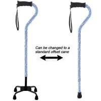 Buy cheap Aluminum Adjustable Convertible Quad 4 Legged Walking Cane with Comfort Gel Grip Blue Cloud from wholesalers