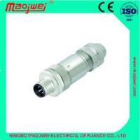 Buy cheap M12 ,straight male metal plug Circular Connectors from wholesalers