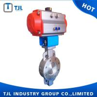 Buy cheap Butterfly Valve Pneumatic Triple Eccentric High Quality Butterfly Valve DN150 from wholesalers