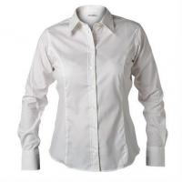 Buy cheap Business Wear Ladies Long Sleeve Oxford Shirt from wholesalers