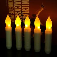 Buy cheap Flameless Cheap Battery Operated Plastic LED Taper Candle Wholesale from wholesalers