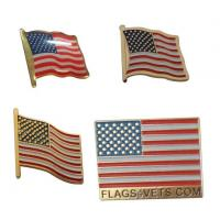 Buy cheap US Flag Promotional Event Lapel Collar Pin with Epoxy from wholesalers