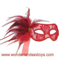 Buy cheap PVC & feather Mask Cutout Eye Mask for Masquerade Party / Halloween Dress Costume from wholesalers