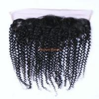 13 4 Short Kinky Curly Remy Human Hair Closures Silk Base Available HC01