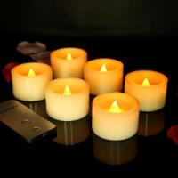 Buy cheap Flameless Remote Set of 6 Battery Operated Church Birthday LED Candle from wholesalers