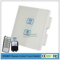 Buy cheap UK Standard 2 key 1 load white Remote control curtain touch switch for smarthome from wholesalers