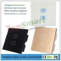 Buy cheap 2 key 1 load Tempered glass panel electric window curtain capacitive touch switches from wholesalers