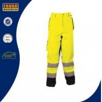 Buy cheap Heavy Duty Breathable Fluorescent Waterproof Safety Work Trouser with Knee Pads from wholesalers