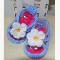Buy cheap 2017 Big flower hand crocheting summer girls baby walking shoes from wholesalers