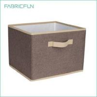 Buy cheap Fabricfun Decorative Foldable Canvas Storage Box with Cloth Handle from wholesalers