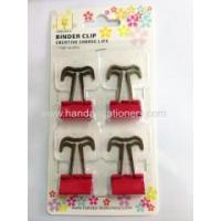 Buy cheap binder clips color mustache clip, with logo printing,different kinds paper clips from wholesalers