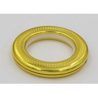 Buy cheap 44mm self-tightening golden embossed round window decoration curtain rod plastic rings from wholesalers