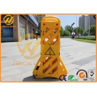 Buy cheap Portable Plastic Traffic Barriers Expandable Safety Barriers Max 3.9 Meters from wholesalers