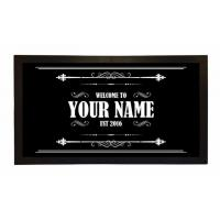 Buy cheap Custom Printed Bar Runner Welcome To Your Name's Bar Drip Spill Mat product