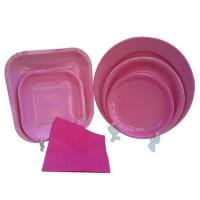 Buy cheap recycled dinner paper tableware from wholesalers
