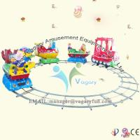 Buy cheap Beautiful Cartoon Train!! New design amusement park wooden train track from wholesalers